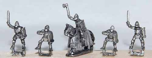 Mounted Knights - Barbed or Housed Horses