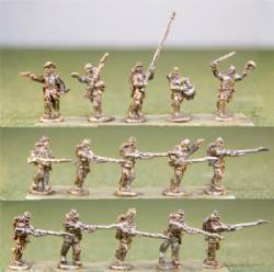 Union Infantry Charging / Level Muskets / with Command