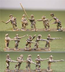 Confederate Infantry Charging/Light Equipment/Level Muskets with Command