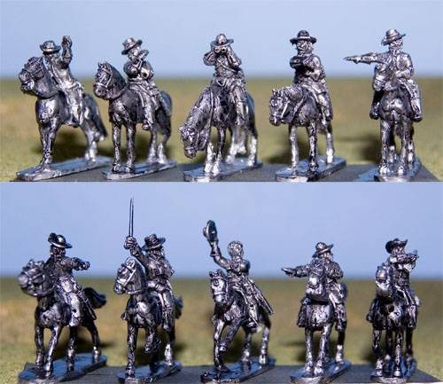 Confederate Mounted Officers