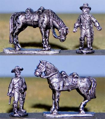 Confederate Horse Holders with Horses