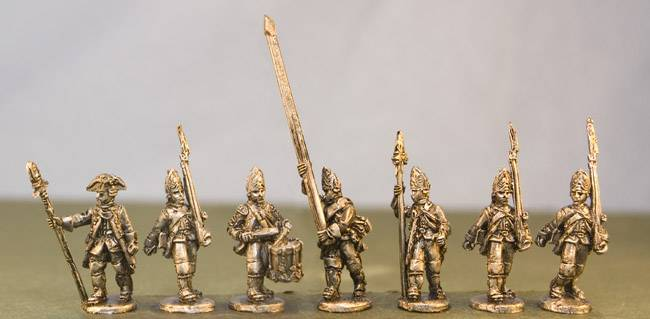 Hessian Fusiliers with command