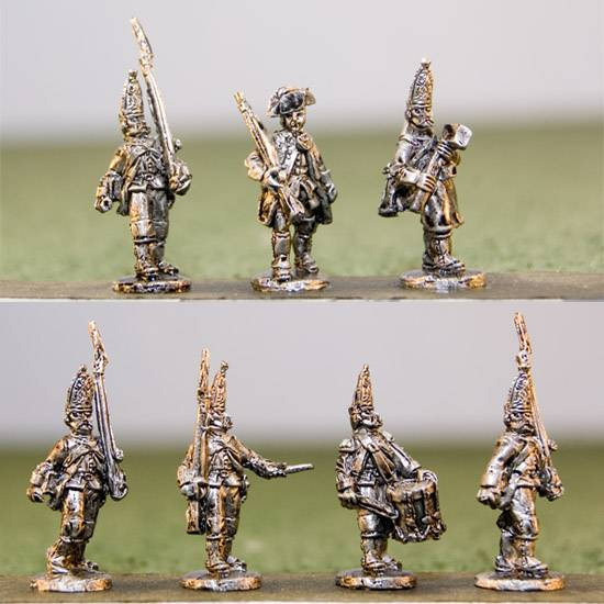 Hessian Grenadiers with command