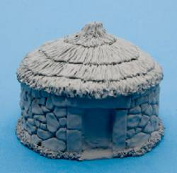 Large Round Hut with Grass Roof