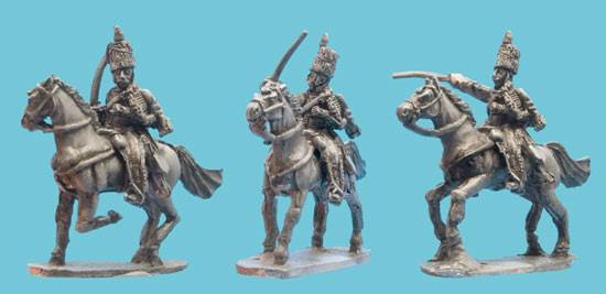Hussar Charging in Tall Busby