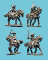 Cavalry, Buffcoat in Soft Hat