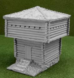Large Block House, raised base with large roof