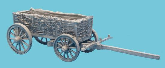 Wicker Side Supply Wagon