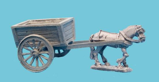 Tumbril Cart - Wooden Sides and Back