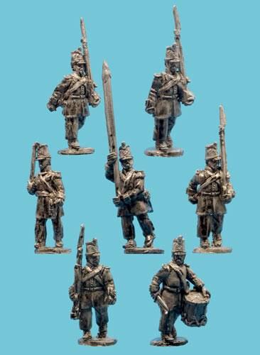 Mexican Infantry in Levitas with Command