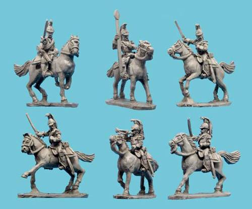 Mexican Tulancingo Cuirassiers with Command