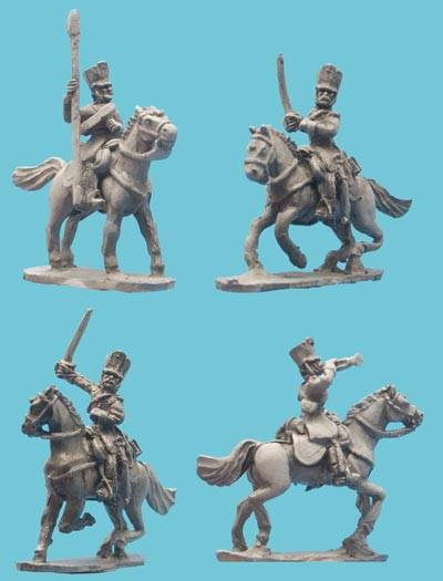 Dragoon Command in Covered Shako
