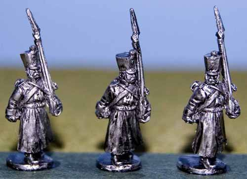 Musketeers in Greatcoat Marching