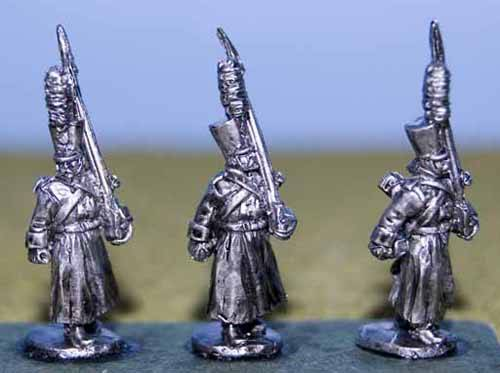 Grenadier in Greatcoat and Shako March Attack