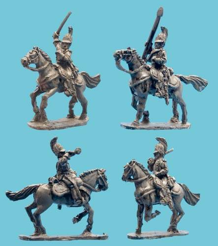 Dragoon Command in Horsehair Crested Helmet