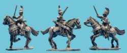Dragoon Charging in Horsehair Crested Helmet