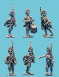 1806-1809 Saxon Grenadiers with Command