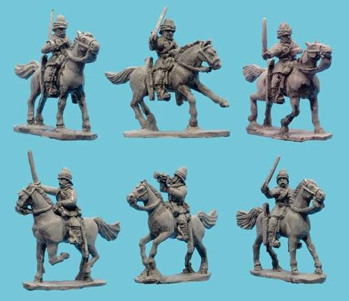 British Hussars/Dragoons with Command