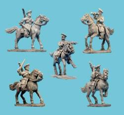 Russian Cossacks with Command