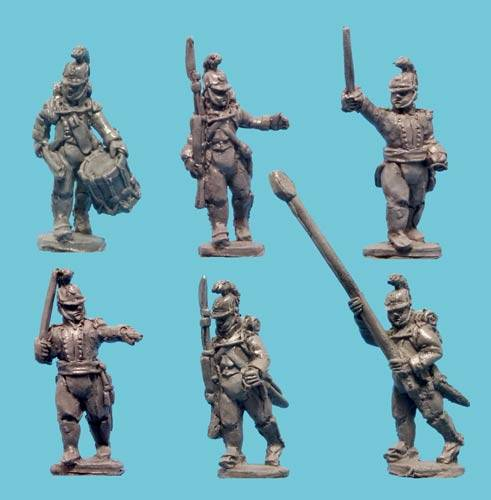 Wurttemberg Infantry Command in Helmets