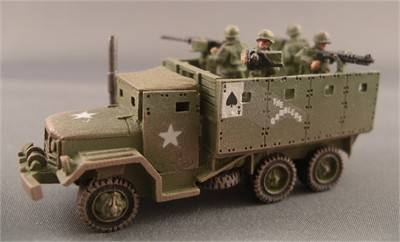 M35  Armored Escort Truck with 4-50 cal MG's