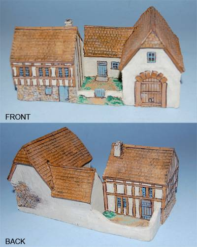 Old Glory Miniatures Large Wood Frame House with Large L Shaped Barn ...
