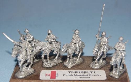 Polish Mounted Cavalry in Adrian helmet (lance, rifles & sabers)