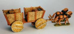 Wicker Supply Wagon with wooden wheels