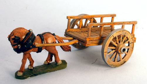 Flat Cart - wooden rails with spoked wheels