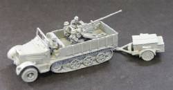Sdkfz 7/2 8 Ton with Flak 36 37mm Ammo Trailor and crew