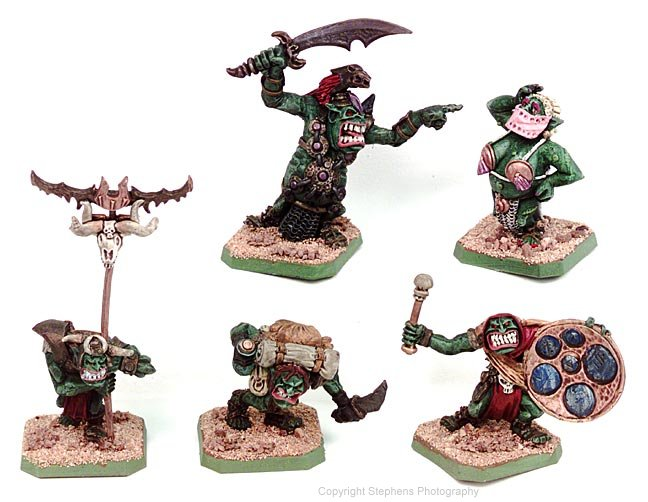 Orc King and Retinue