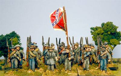 Second Edition Confederate Infantry Marching Shoulder Arms