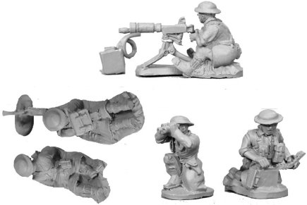 Bren Gun Team & Vickers Team