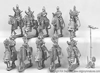 Heavy Cavalry Kontos Bow and Armored Horses